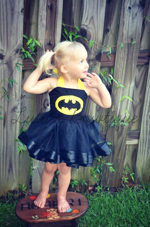 Inspired Batman Costume Girl Super Hero by lulusBowtique1 on Etsy