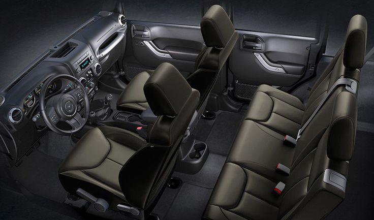 Jeep Wrangler Unlimited Sahara Interior Seating Olive