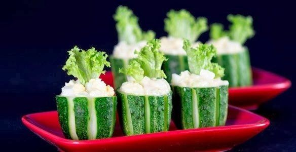 Fast food cucumber and eggs