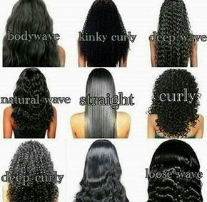 Different types of curls for weave