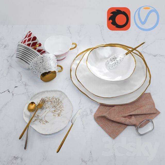 Ceramic decorative set