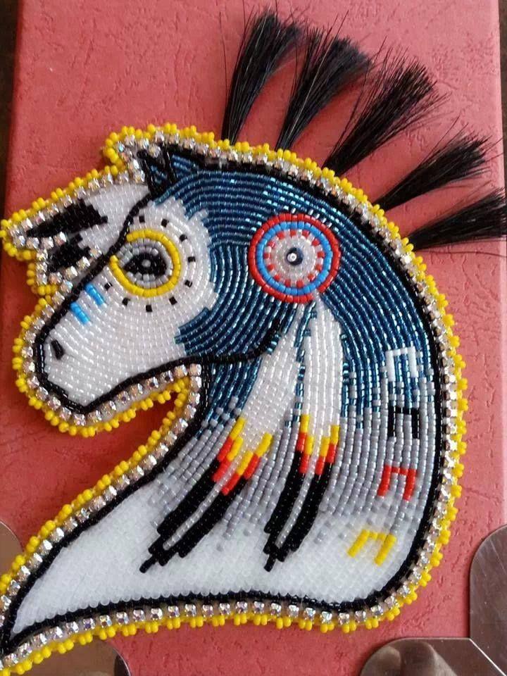 beautiful beaded horse.