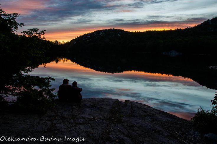 beautiful sunset on O.S.A. lake at Killarney
