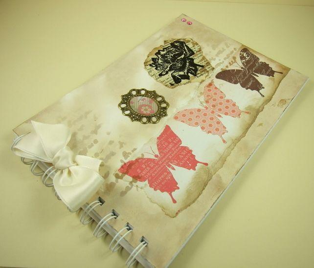Handmade Scrapbook Album Memory Book A5 Butterflies £6.50