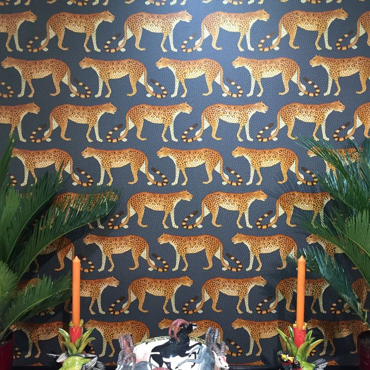 A leopard can change it's spots #theworldofinteriors #wallcoverings #wallpaper #interiordesign #decor #homedecor #interiordesign #luxurydesign #coleandsonwallpaper