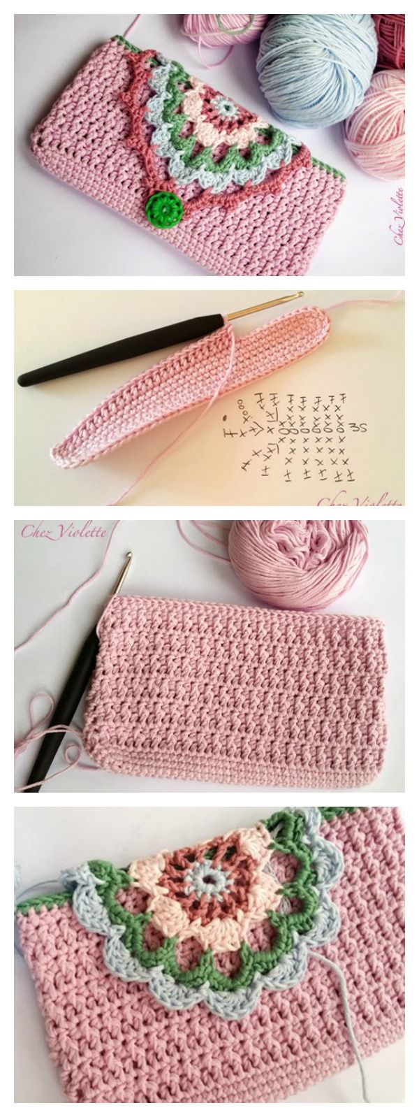 Fancy Phone Case Free Crochet Pattern                                                                                                                                                                                 More