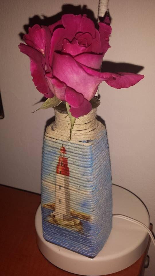 HanDia - recycled bottle handmade decoupage