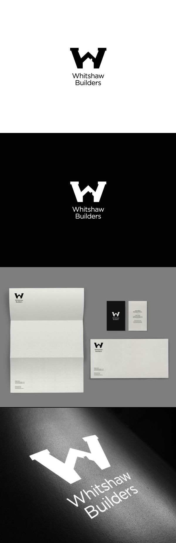 Whitshaw Builders Brand Identity via Behance.