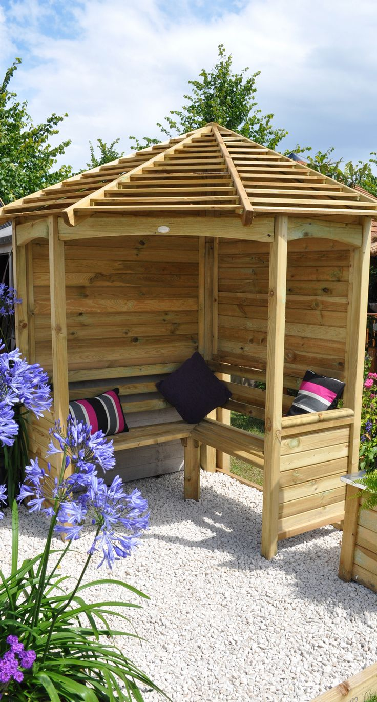 Best 38 Garden Arbours ideas on Pinterest | Bed stores, Boat and Boats