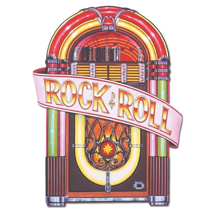 1950 s Juke Box Cutout 3ft - Rock and Roll Music Party Decorations