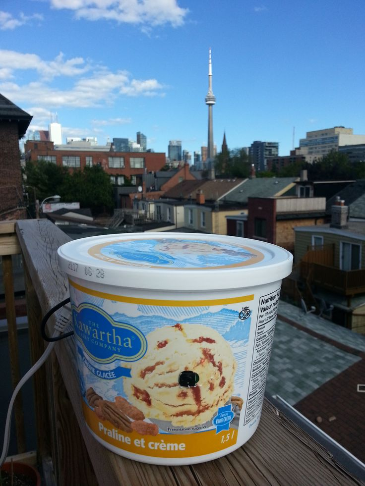 before there was a zeitdice smart timelapse case, there was a hole cut into an ice cream container =)