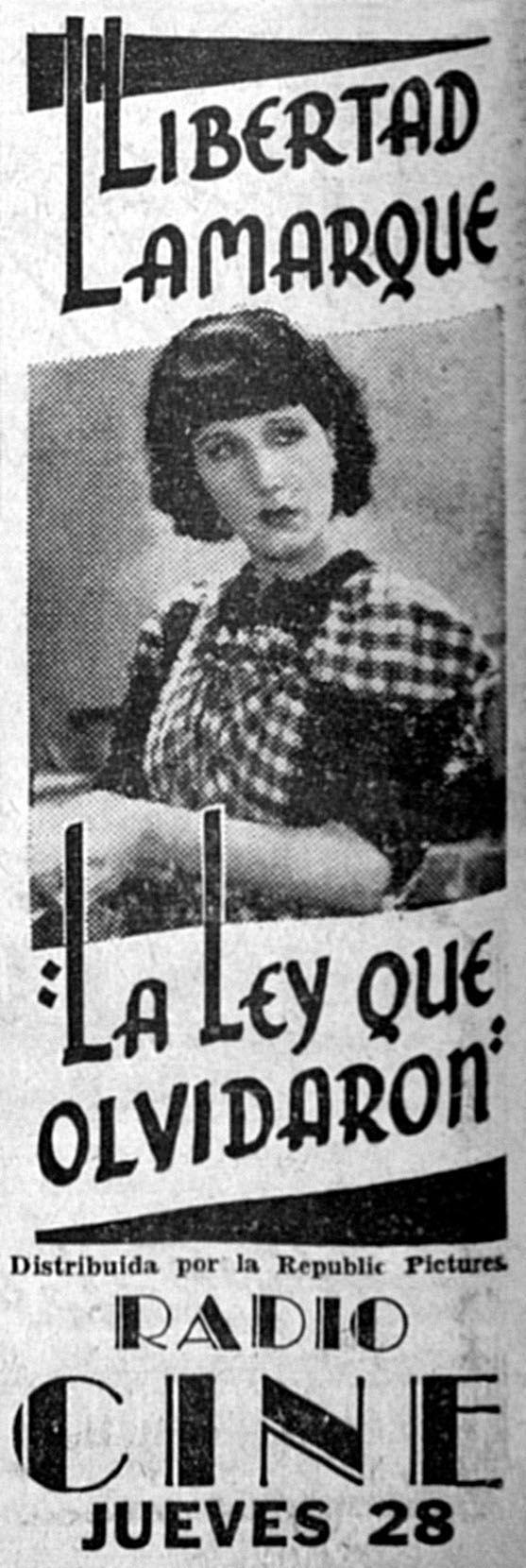 1937 - LA LEY QUE OLVIDARON - José A. Ferreyra - (DIARIO DE LA MARINA, Lunes 25 de Abril de 1938, La Habana, Cuba)