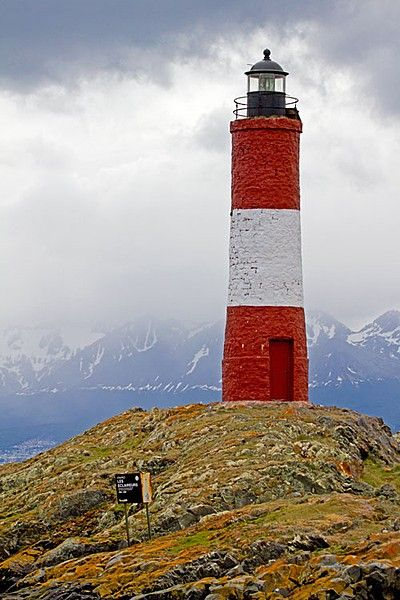 The Les Eclaireurs Lighthouse in the Beagle Channel,