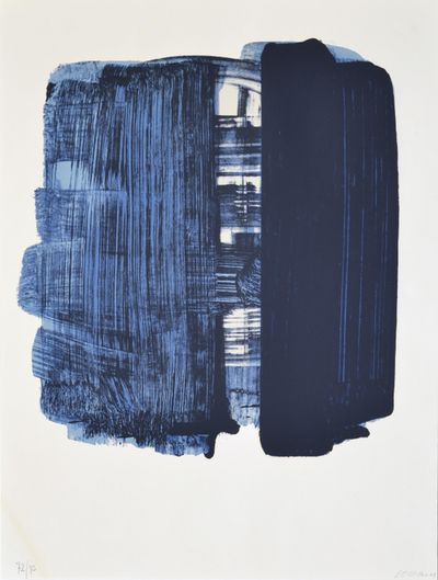 Pierre Soulages (French, b. 1919), Composition. Lithograph, 72.5 x 53 cm.