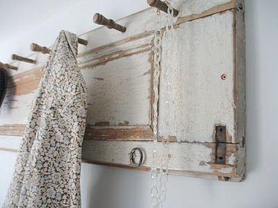 DIY Shutter coat rack. More DIY ideas @BrightNest Blog