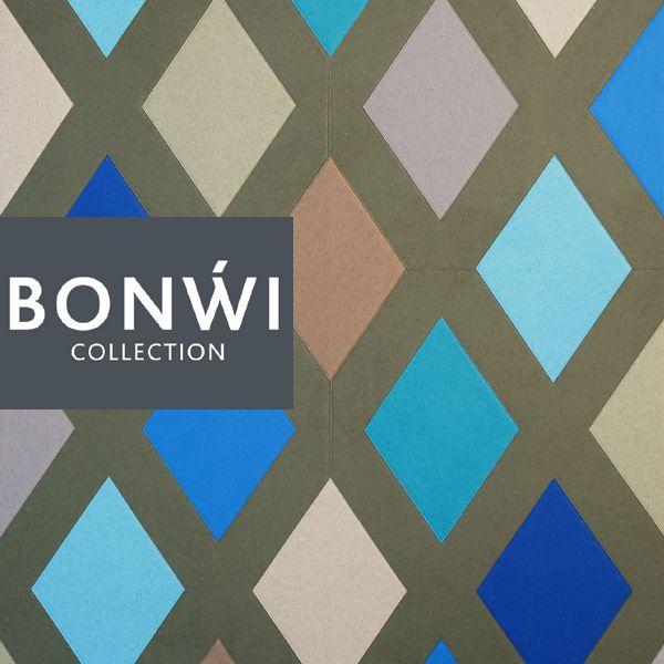 Rautenteppich  aus 100% Wollfilz in modernen Erdtönen. Größe und Farbe individuell wählbar.