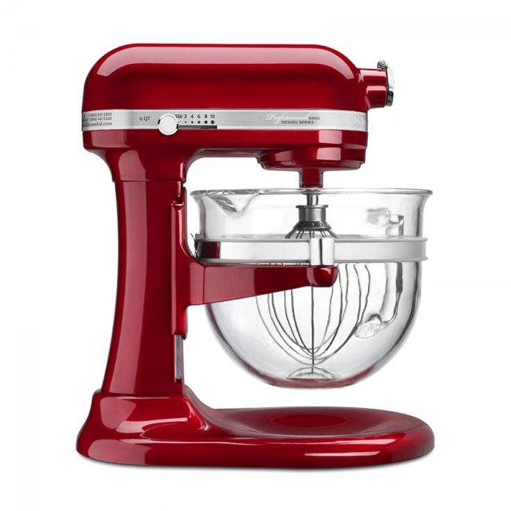 KitchenAid® Professional 6500 Design Series Bowl-Lift Stand Mixer - Red | A classic and functional stand mixer makes a great gift idea for those who love to cook & bake!