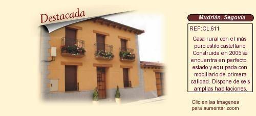 CL611 Mudrián. Segovia.  Centro de turismo rural en venta http://www.lancoisdoval.es/casas-rurales-en-venta.html
