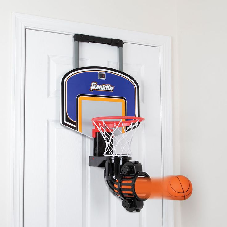 The Automatic Return Indoor Basketball Net - Hammacher Schlemmer-For the office