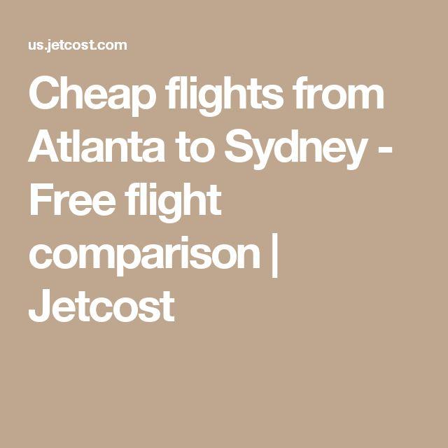 Cheap flights from Atlanta to Sydney - Free flight comparison | Jetcost