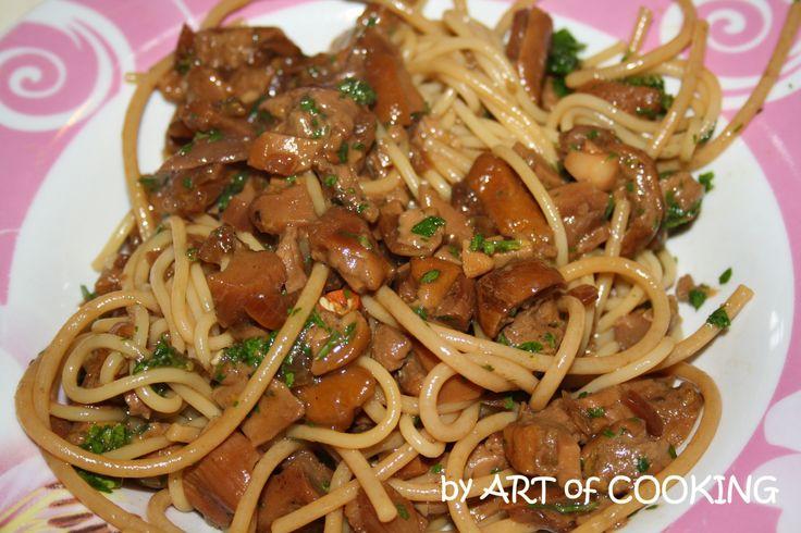 spaghetti con funghi porcini