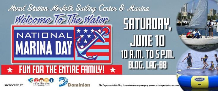 Military Families, come out to enjoy National Marina Day at the Naval Station Norfolk Sailing Center & Marina this weekend! http://hamptonroads.myactivechild.com/blog/military-families-national-marina-day/