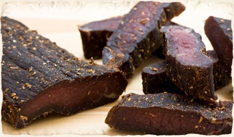 Biltong is a great source of low fat protein.