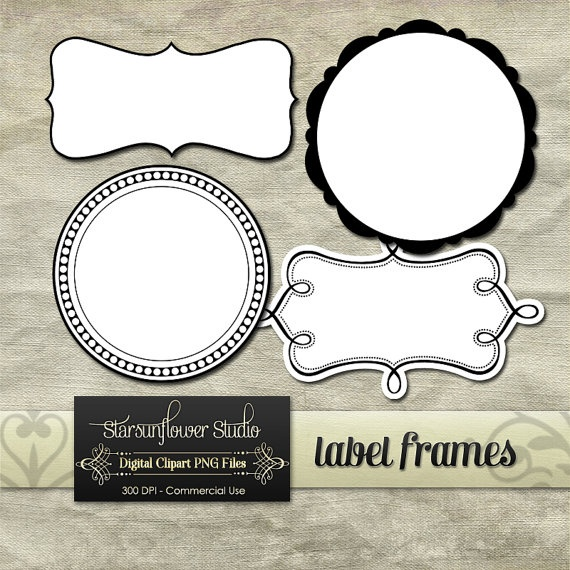 Label Frames Borders Clipart Printables ~ Hoping these will work for my canning labels!