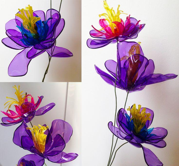Plastic bottle flower pet bottle art pinterest for Recycled flower art
