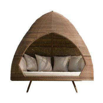San Marino Rattan Relax Hut With Cushions