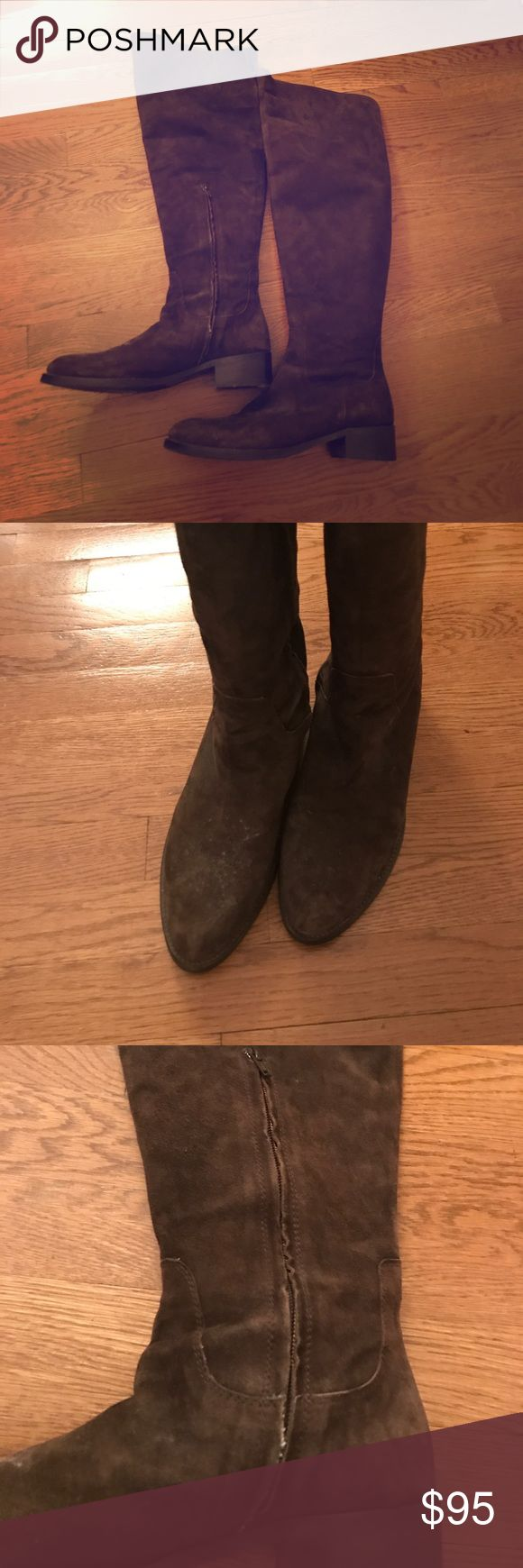 Brown Suede Over the Knee Boots These are amazing boots. They are BARNEYS NEW YORK and we're purchased at the famous store on Madison Ave in NYC. They have been worn a handful of times and are super comfy. Size 41/11. They are super comfortable and have a slit near the back of the leg so the leg can still be bent. There is a zipper to get the boots on and off with ease. I have no room for these in my closet so they need to go! Stuart Weitzman Shoes Over the Knee Boots