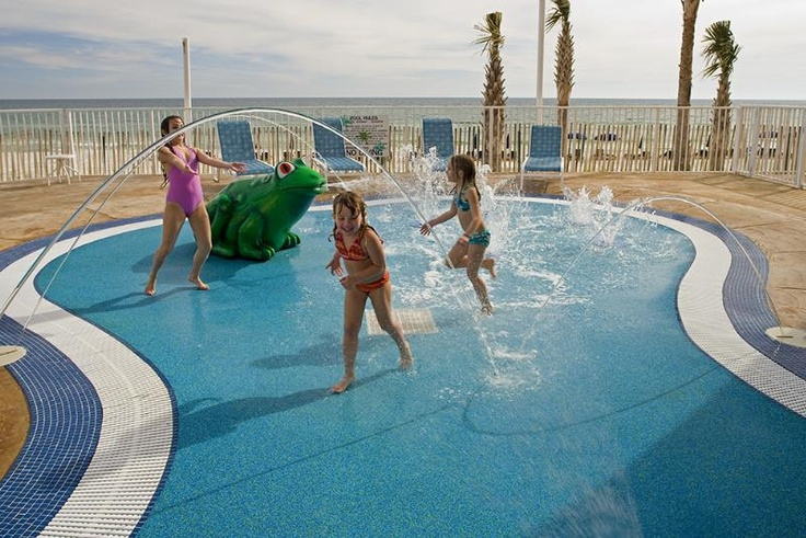 Splash Resort in PCB, Fl.  Stayed here in 2007. Condos right on the beach and a cool mini water park inside the hotel.