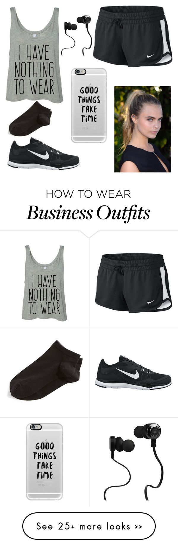 """Work out"" by mil200111 on Polyvore featuring NIKE, Casetify, Monster and Wolford"