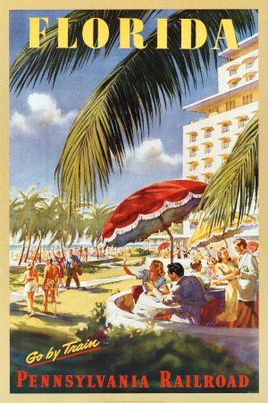 Vintage Florida Travel Poster