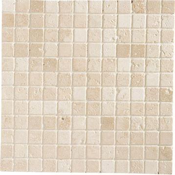 Mosaique Mineral ARTENS, ivoire, plaque de 30,5 x 30,5 à 9 € LM.