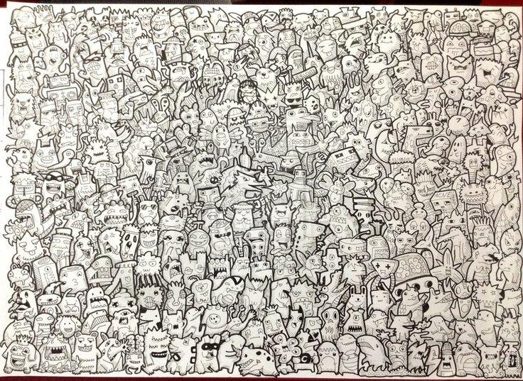 86 best doodles images on pinterest doodles doodle for Doodle art monster