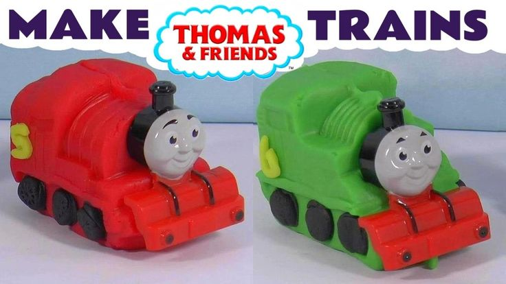Thomas & Friends make Toy Trains with Dough - Like Play-Doh - James & Pe...