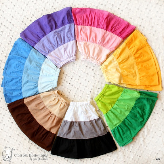 Girls Skirt  Color Wheel Pick Your Size 12/18m 2T/3T by elkdresses, $24.00Wheels Skirts7, Colors Combos, Little Girls, Rainbows Colors, Girls Skirts, Skirts Pattern, Color Wheels, Colors Wheels, Baby Skirts