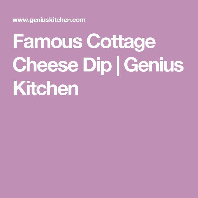 Famous Cottage Cheese Dip   Genius Kitchen