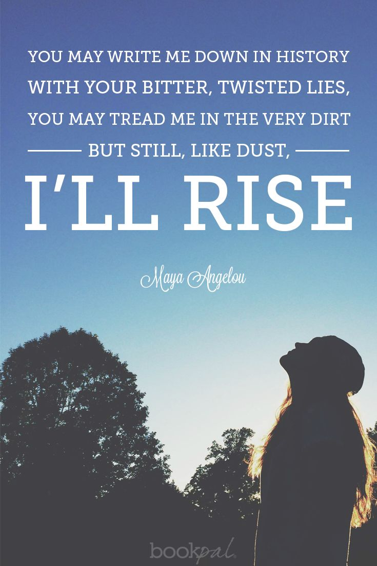 "maya angelou still i rise essay Analysis of the poem ""still i rise"" essay sample  maya angelou ensured a variety of devices were incorporated in her poem ""still i rise"",."