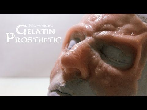 How to create a Gelatin Prosthetic (sculpt, mold, cast) - YouTube