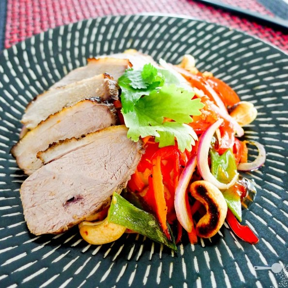 Tea-smoked duck breast with an Asianesque cashew salad | Ducks, Salads ...
