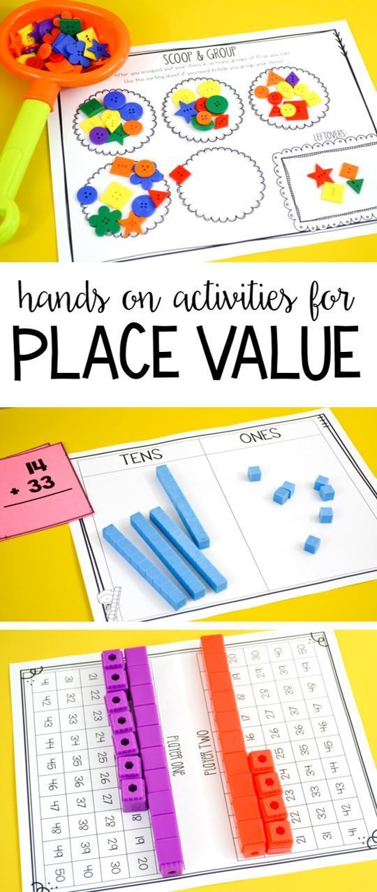 Tons of hands on place value activities, games and printables for first grade!