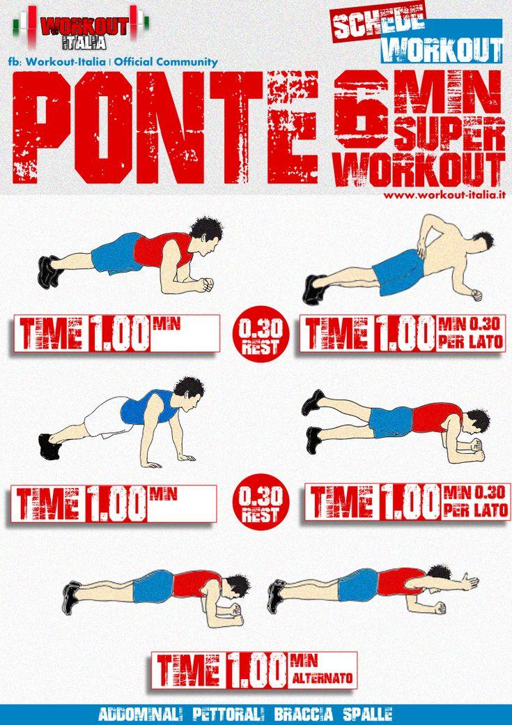 scheda workout plank