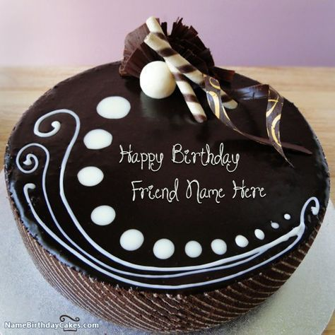 Write name on Candy Chocolate Cake For Friends - Happy Birthday Wishes