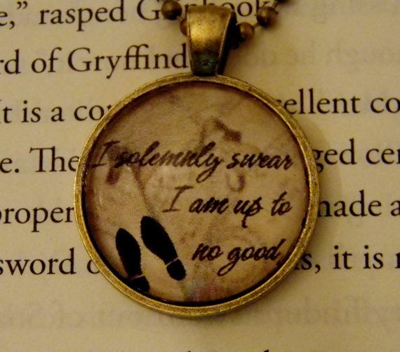 Harry Potter Marauder's Map Necklace. I by EvangelinasCloset, $14.00