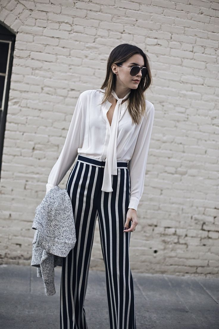 Statement Trousers White Blouse