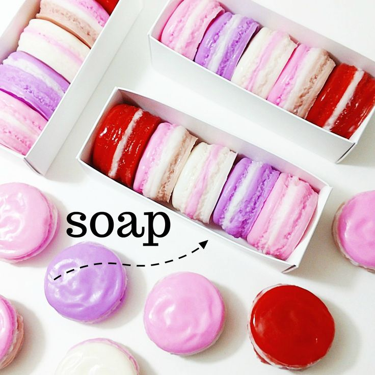 Look what we made for your Valentine! Adorable macaron soap gift sets in 5 delicious scents. All natural and gift boxed for the loves in your life. #giftideas #valentinesday #valentinegifts #giftforher #soap #handmade #macaron