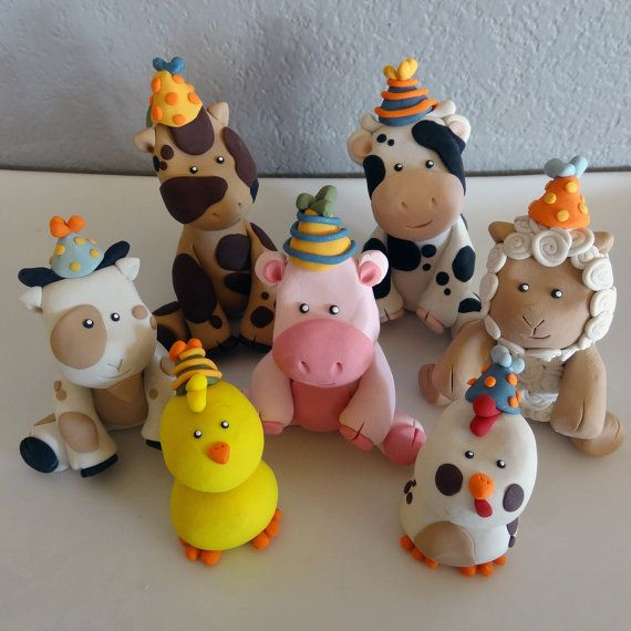 Custom Barnyard/Farm Cake Toppers for Birthday or Baby by carlyace