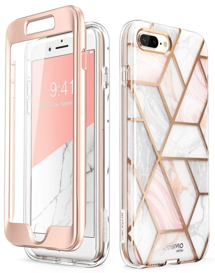 Iblason cosmo glitter clear bumper case for iphone 8 plus